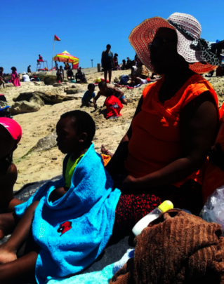 Abaphumeleli at the beach