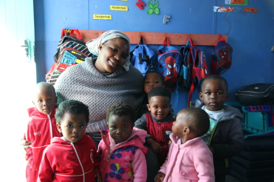 Nomsa with some of the children she serves