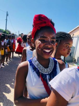 Child celebrating Heritage Day