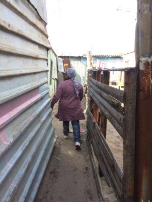 Walking through the informal settlements