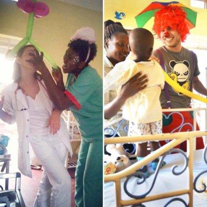 Adela and Jiri during their volunteering in UG