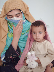 Mother and daughter fleeing from Swat