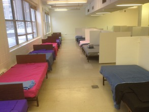 Completed Interim Housing Space
