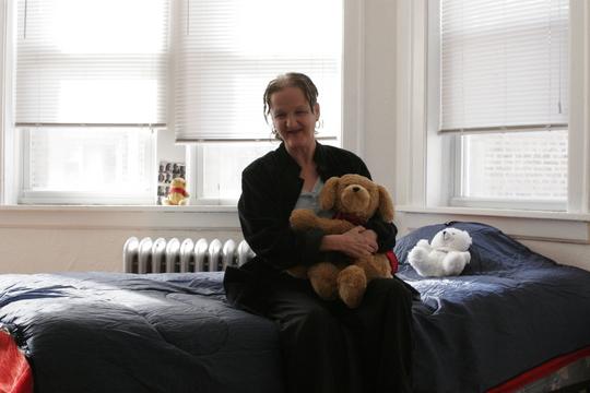 A woman housed through Sarah