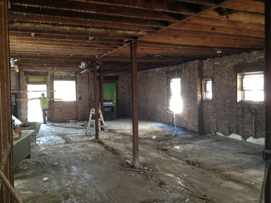 Third floor after start of construction