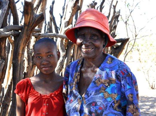 Fatima with Grandma