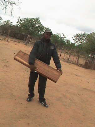 Mr. Ncube with his vet kit