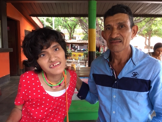 Maria Elena and her dad