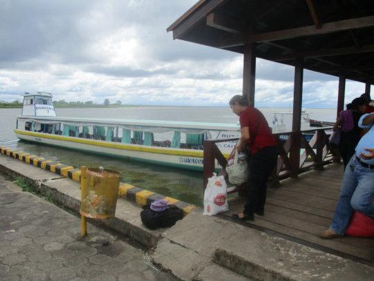 boat from San Carlos to Saballos