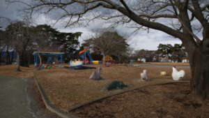 Abandoned playground in the exclusion zone