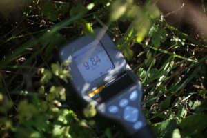 High radiation level in Fukushima mountains