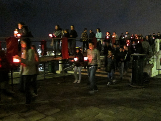candle lit walkers