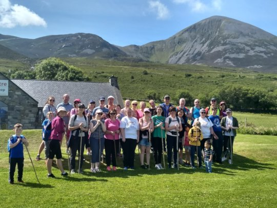 Croagh Patrick climbers