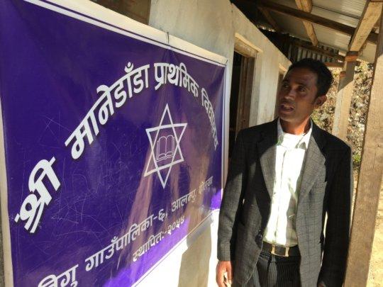 Mr. Babiendra B.K., Principal of Manedanda School