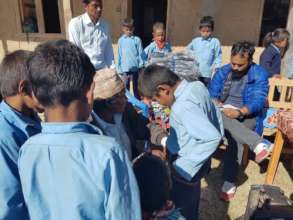 Children get ready for Measuring  their Uniform