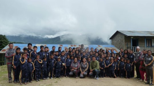 Students with Teacher Group Photo