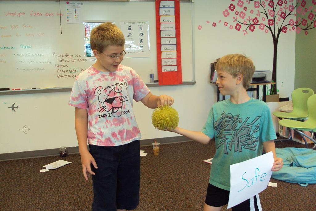 Practicing friendship skills at Take 2