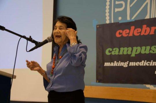 Dolores Huerta during her keynote