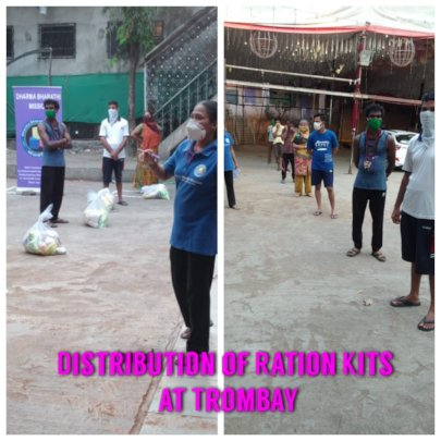 Distribution of Ration kits in Slums