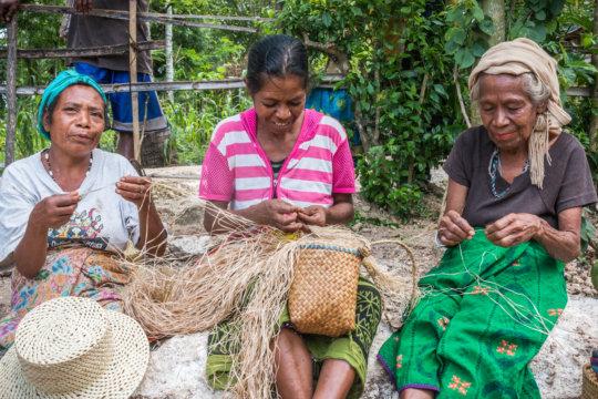 Women weavers' training on product development