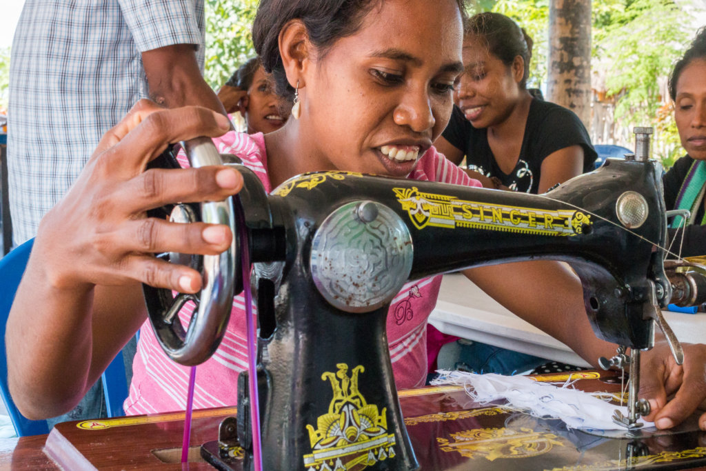 New sewing machines in Atauro