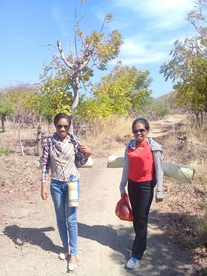 No road... so team walks to meet the artisans!
