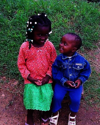 two of the many children who face a better future