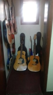 Guitars at KMS after John Paul cleaned them