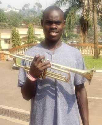 Ian on his Trumpet
