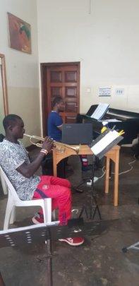 Ian in Trumpet lesson