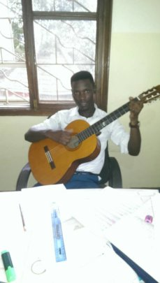 John Paul practising