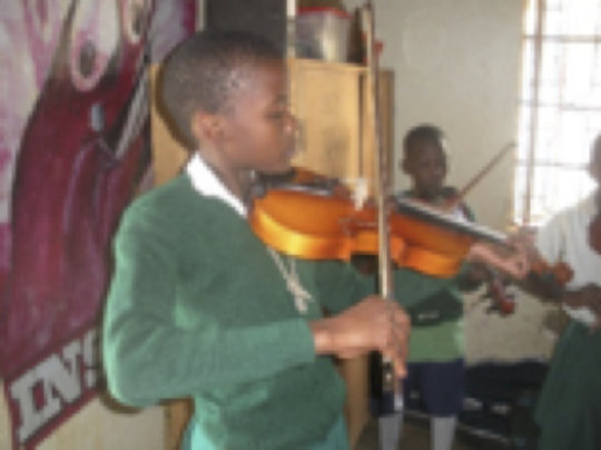 A student at St Mary Kevin School