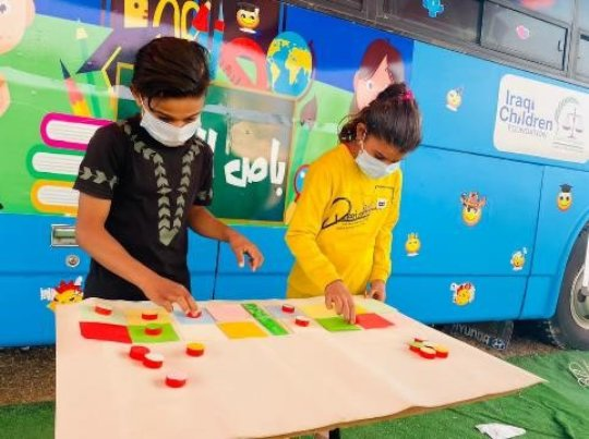 Fun activities at the Hope Bus