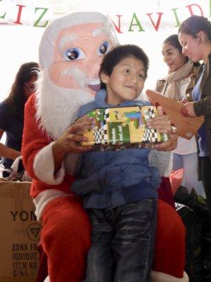Jose with Santa Claus