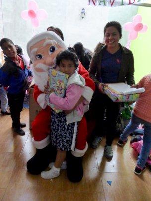 Doris with Santa Claus