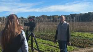Flavia from FUNDEPS interviewing Cervando