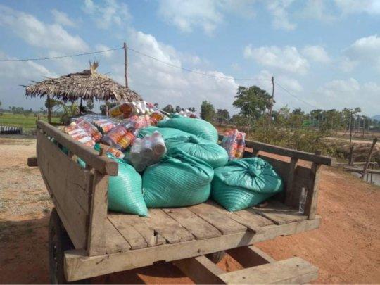 Food & supplies in truck
