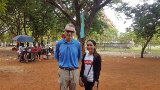 Channary with Kent Greer, our volunteer teacher