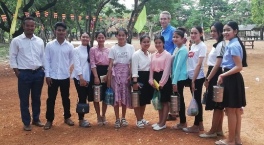 Chelly Scholars helping out back in Chum Kiri
