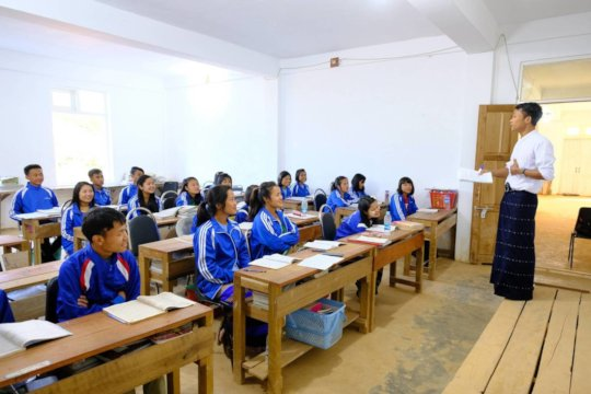 EfA students in a training centre classroom
