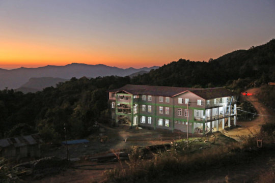 The training centre at sunset