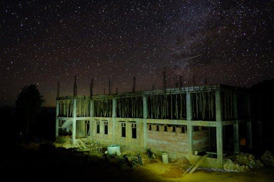Beneath the night sky