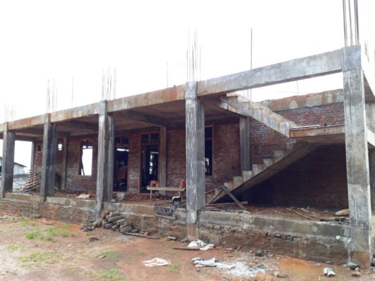 Ground floor walls, windows and stairs