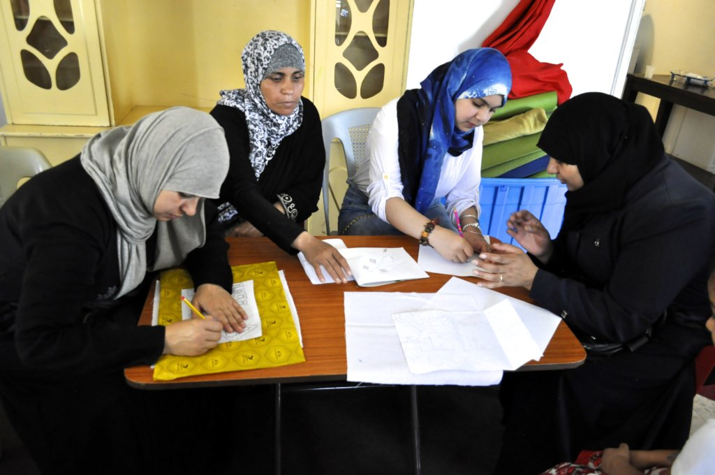 Hard at work at the Hope Workshop, Amman