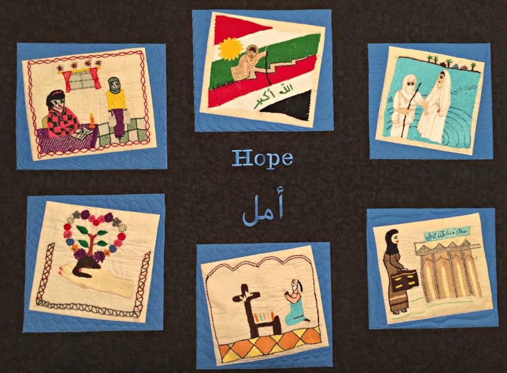 The FAWCO quilt symbolizes hope!