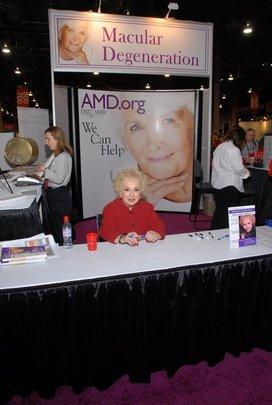 Doris Roberts at the AMD.org Booth at AARP