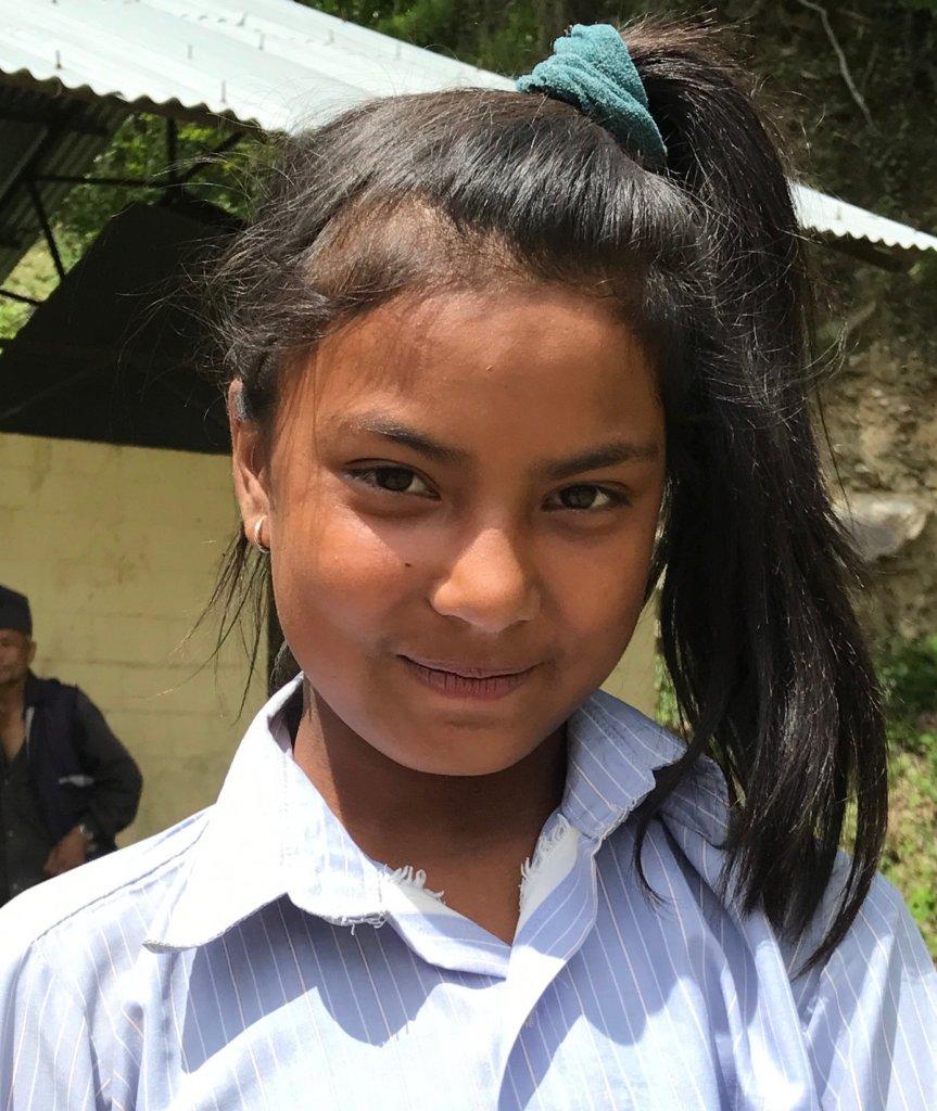 Sarita with her uniform