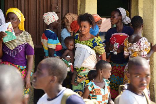 Sabokarji community members at the health outreach