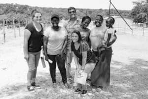Survey Team in The Field, with 3 Mambas