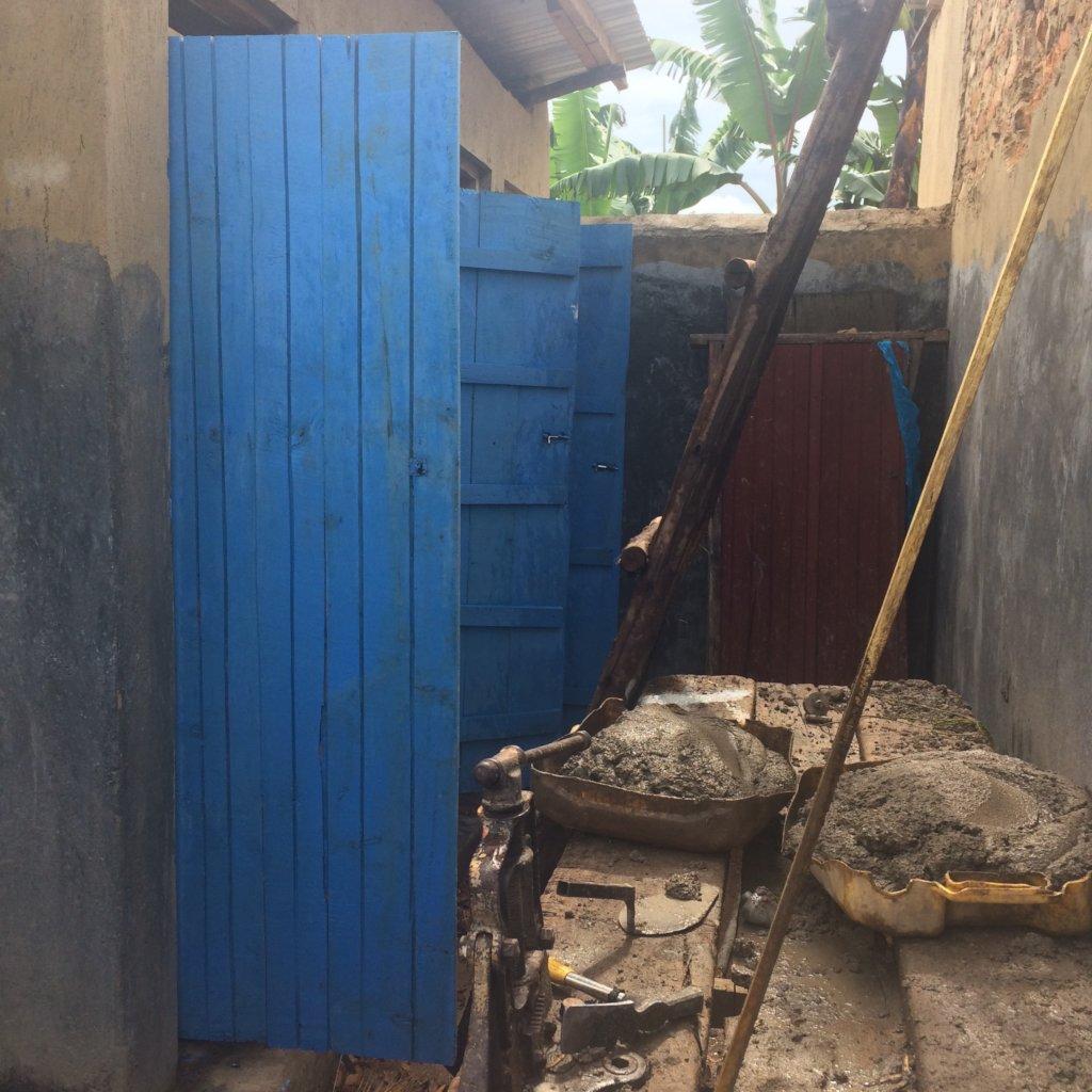 Toilets during refurbishment